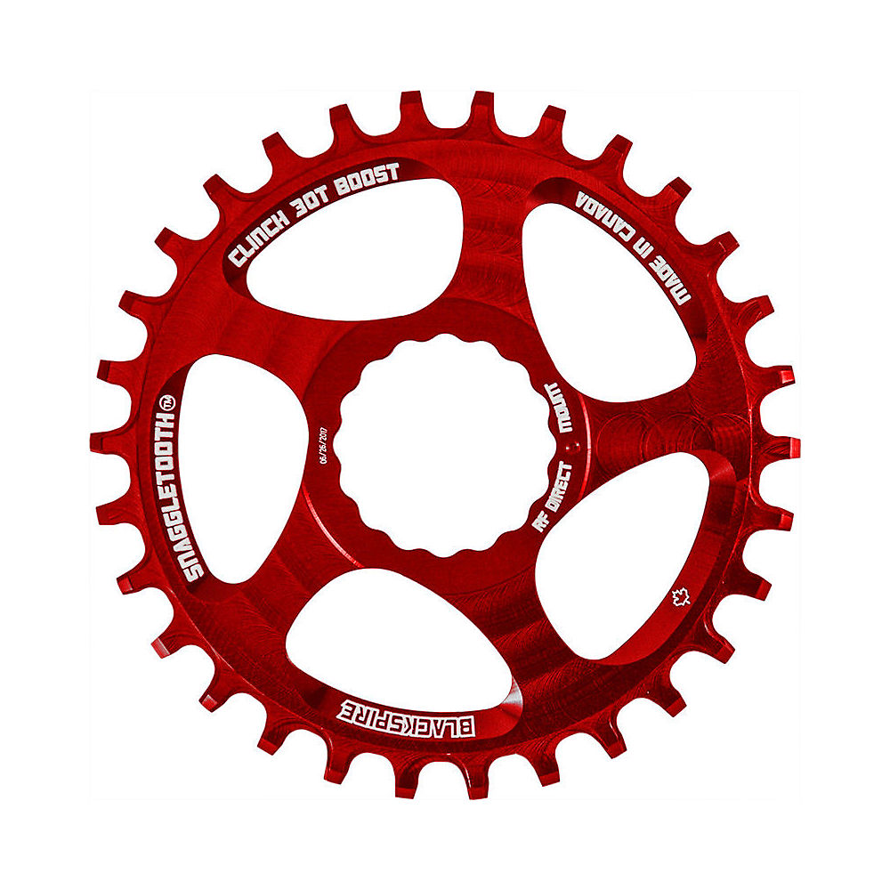 Image of Blackspire Snaggletooth NW Cinch Chainring BOOST - Rouge - Direct Mount, Rouge