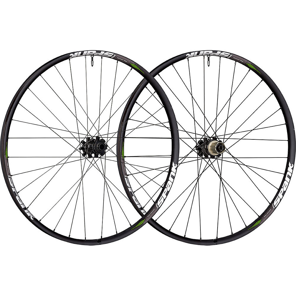 Spank Tuned 350 Vibrocore Boost MTB Wheelset – Black – 148mm, Black