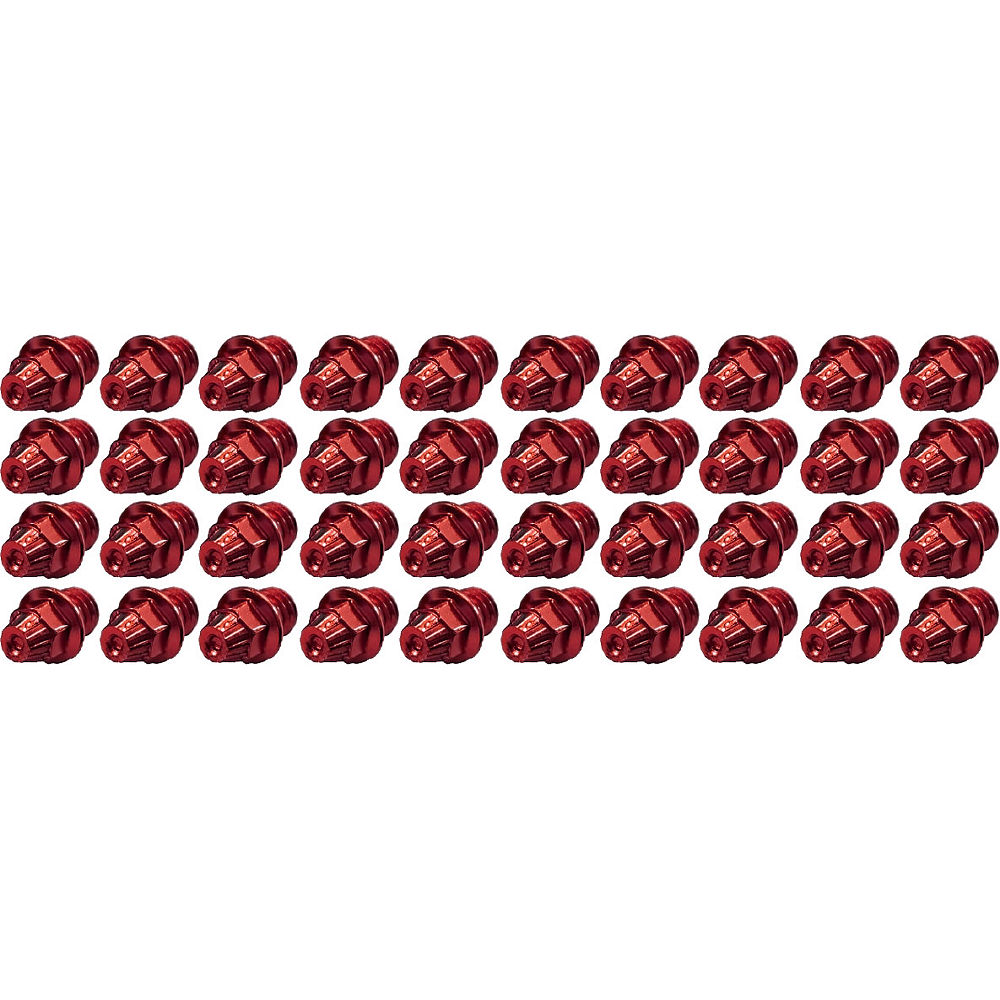 Image of TAG Metals T1 Pedal Cone Pin Set - Rouge - 4mm 40pcs, Rouge