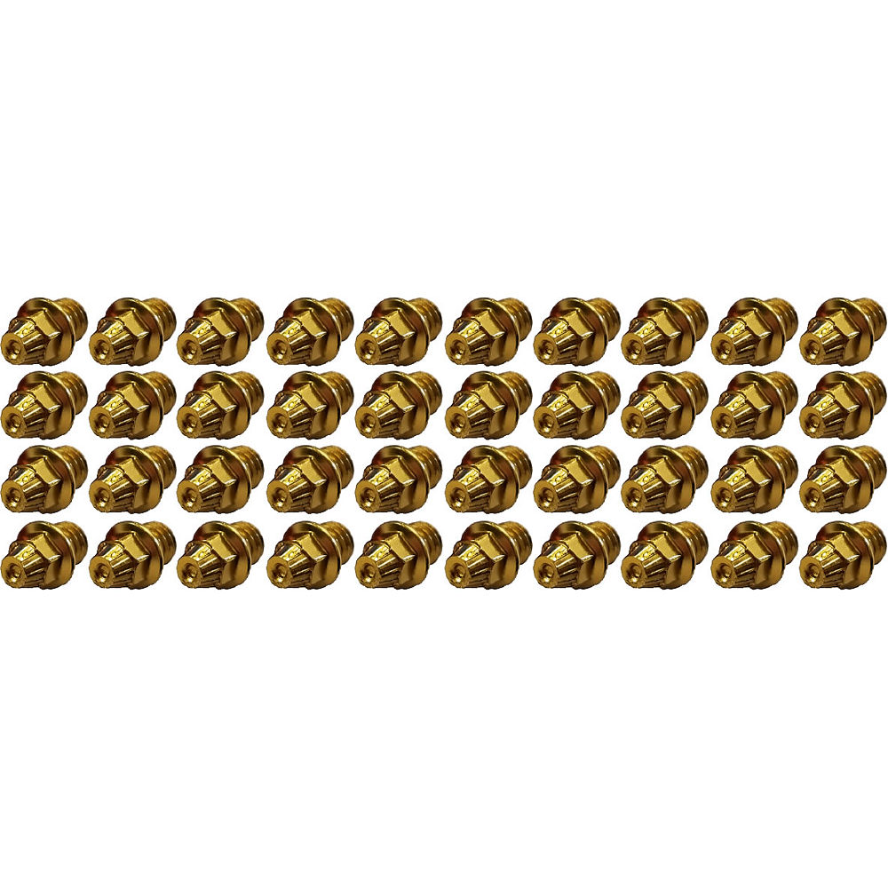Image of TAG Metals T1 Pedal Cone Pin Set - Jaune - 4mm 40pcs, Jaune