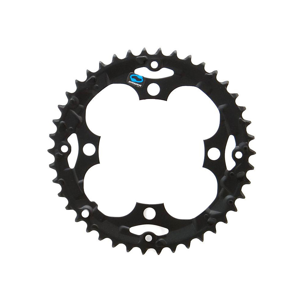 Shimano Alivio FCM410 Triple Chainrings - Black - 4-Bolt, Black