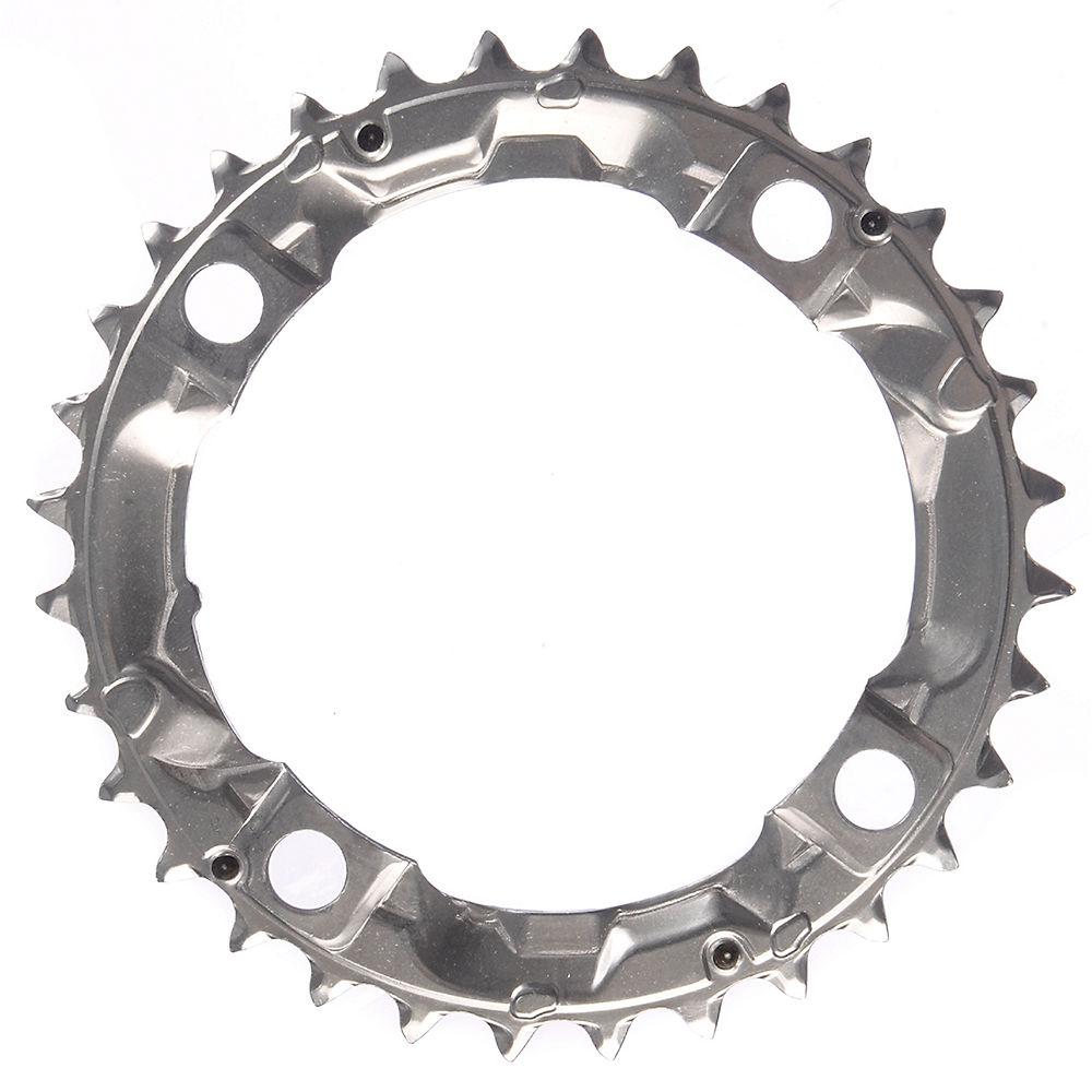 Shimano Alivio FCM410 Triple Chainrings - Silver - 4-Bolt, Silver