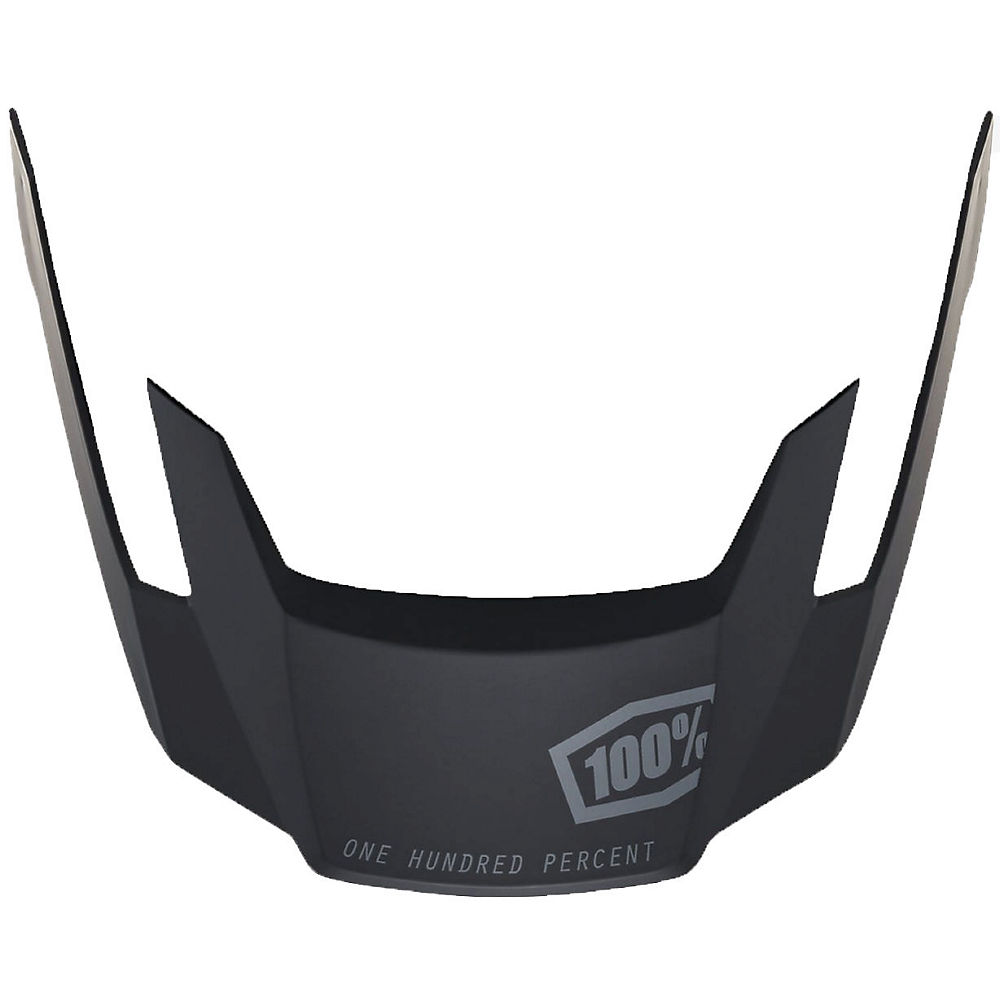 100% Aircraft Replacement Visor  - Ripper Black - One Size  Ripper Black