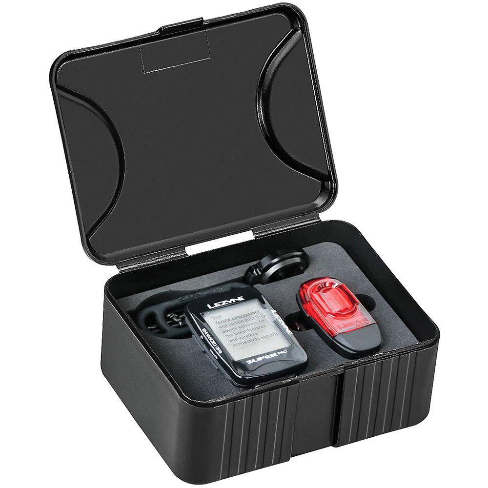 Lezyne Super Pro GPS Computer Smart Bundle – Black, Black