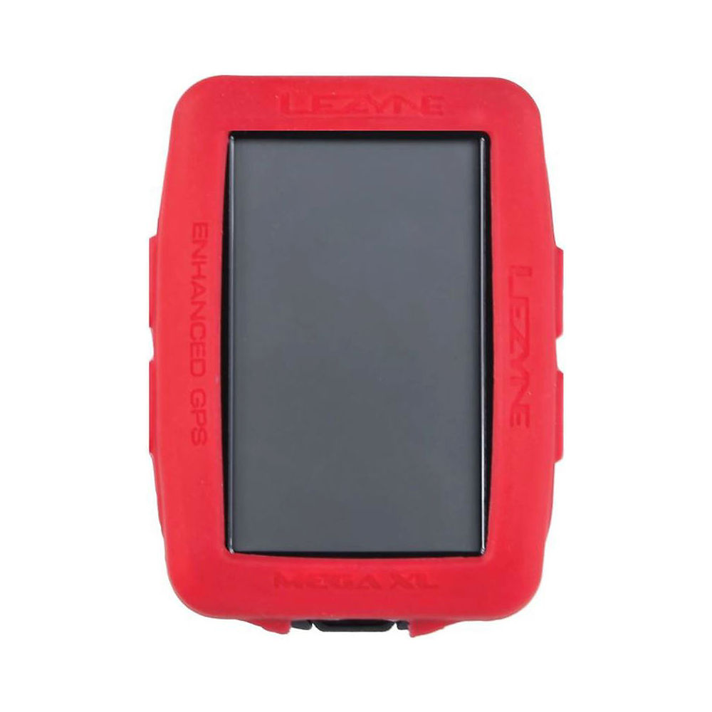 Image of Lezyne Mega XL GPS Computer Silicone Cover - Red, Red