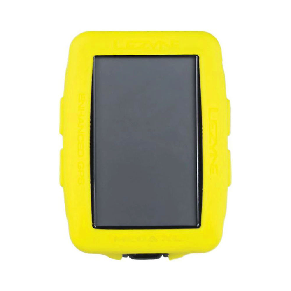Image of Lezyne Mega XL GPS Computer Silicone Cover - Yellow, Yellow
