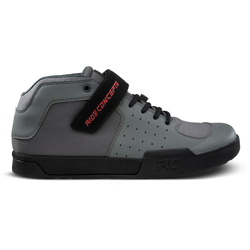 Image of Ride Concepts Wildcat Flat MTB Shoes - UK 10/EU 44 - Charcoal/Red