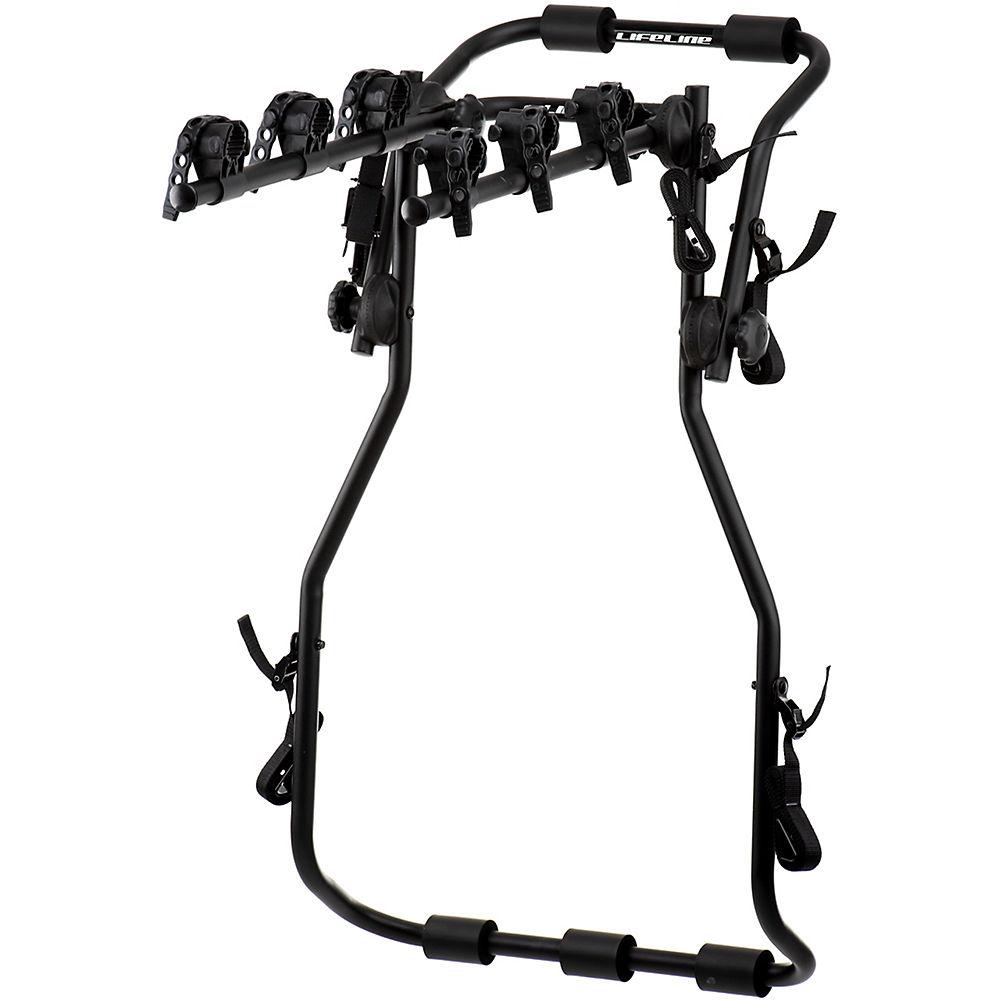 Portabicicletas trasero para coche LifeLine High 3 - Negro - One Size, Negro