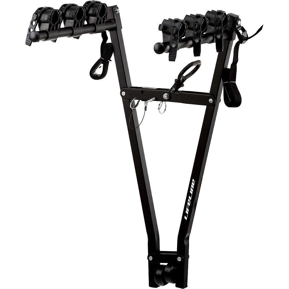 Soporte para coche LifeLine (3 bicicletas) - Negro - One Size, Negro