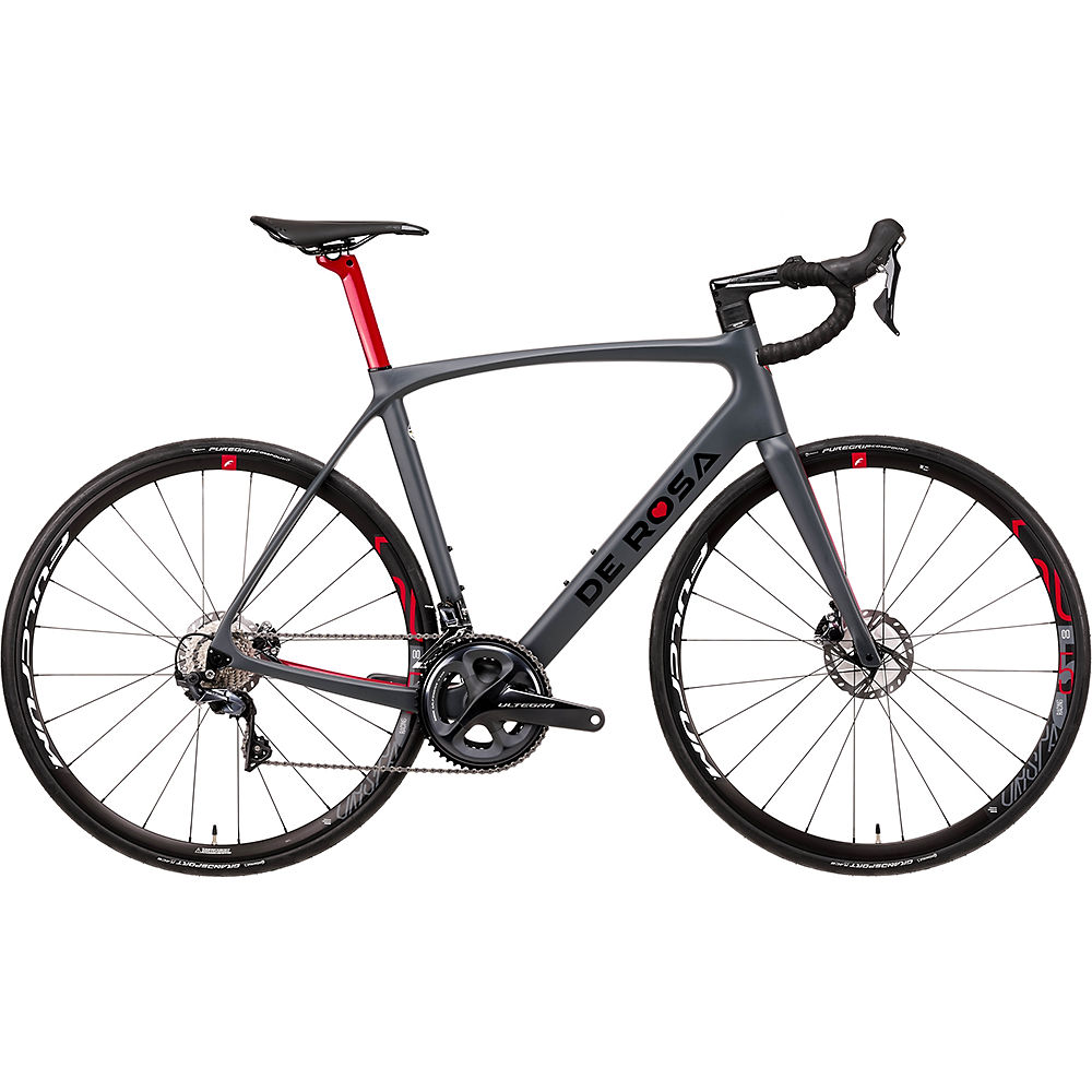"Image of De Rosa Idol Racing 500 Disc (Ultegra) 2020 - Gris - 46cm (18""), Gris"