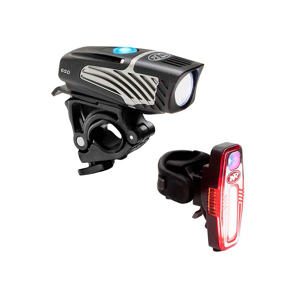 Image of Éclairages Nite Rider Lumina Micro/Sabre (avant 650 et arrière 80 lumens) - Noir, Noir