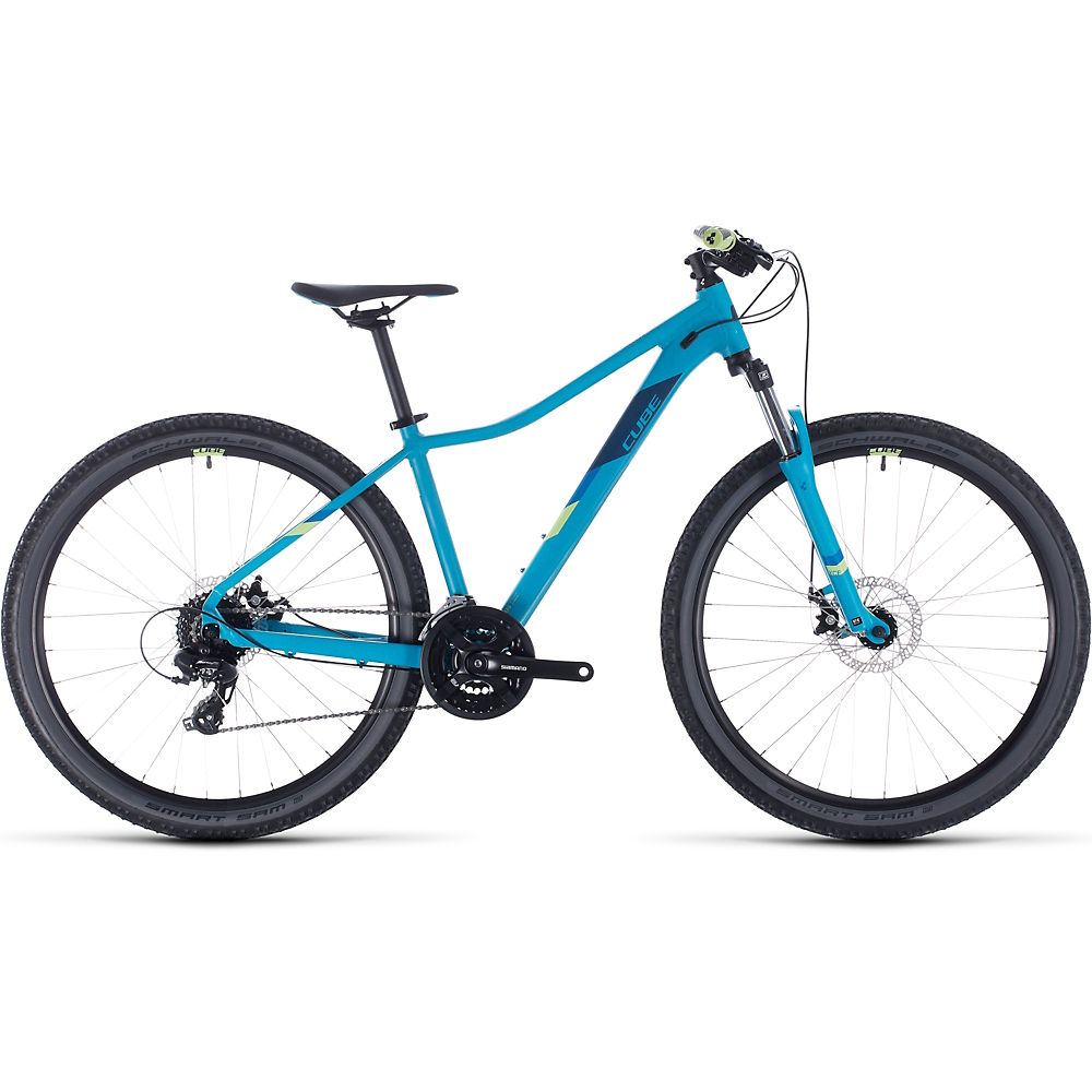 Cube Access WS 27.5 Womens Hardtail Bike 2020 – Blue – Green – 33cm (13″), Blue – Green