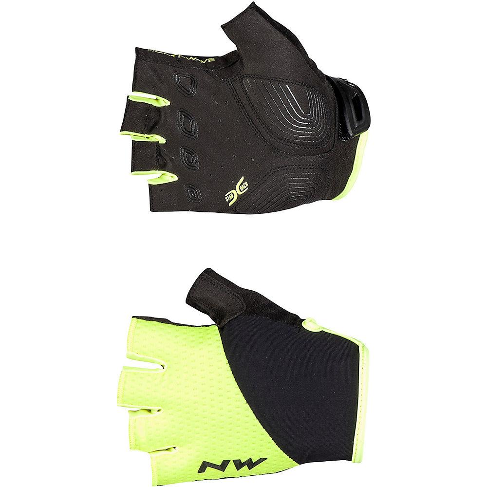 Northwave Fast Short Finger Gloves  - Yellow Fluo-black - Xxl  Yellow Fluo-black