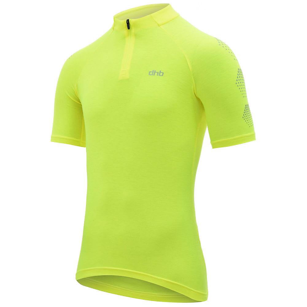 Dhb Flashlight Womens Short Sleeve Jersey - Fluro Yellow - Uk 8  Fluro Yellow
