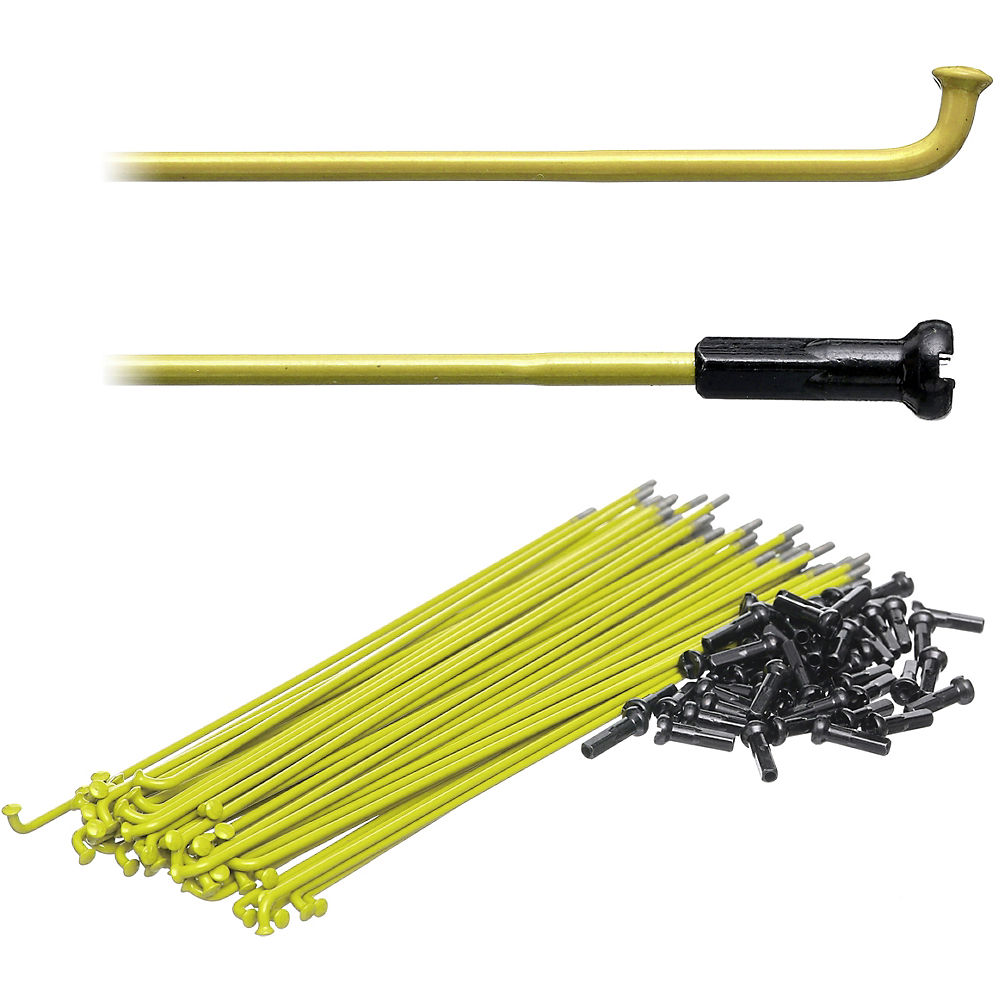 Image of Proper Double Butted Spokes - Jaune, Jaune