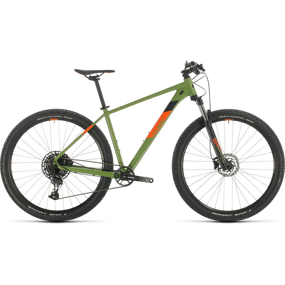 Cube Analog 29 Hardtail Bike 2020 – Green – Orange – 53cm (21″), Green – Orange