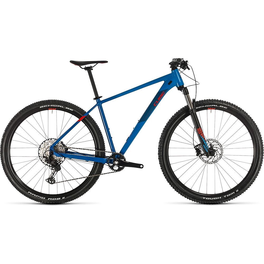 Cube Reaction Pro 29 Hardtail Bike 2020 – Blue –  Red – 43cm (17″), Blue –  Red