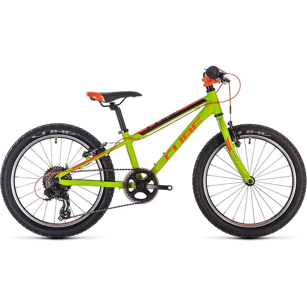 "Image of Cube Acid 200 Kids Bike 2020 - Kiwi - Black - Orange - 20"", Kiwi - Black - Orange"