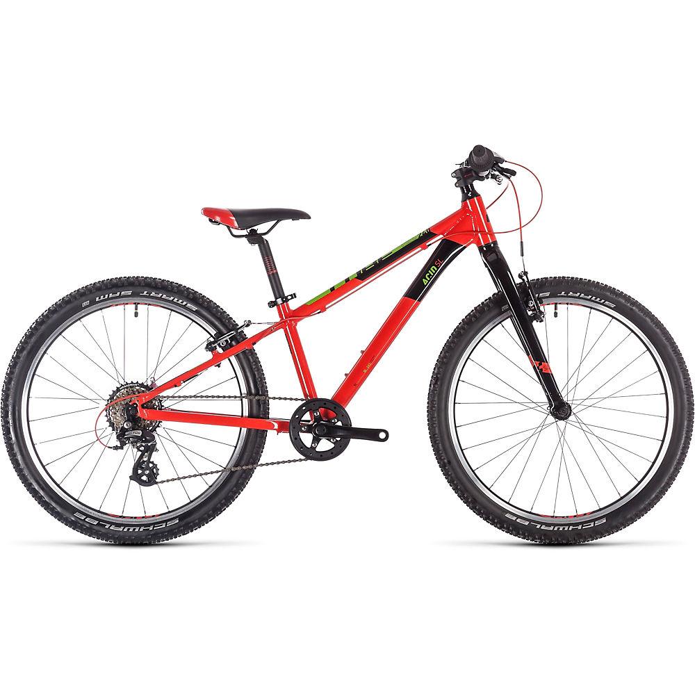 "Image of Cube Acid 240 SL Kids Bike 2020 - Red - Green - Black - 24"", Red - Green - Black"