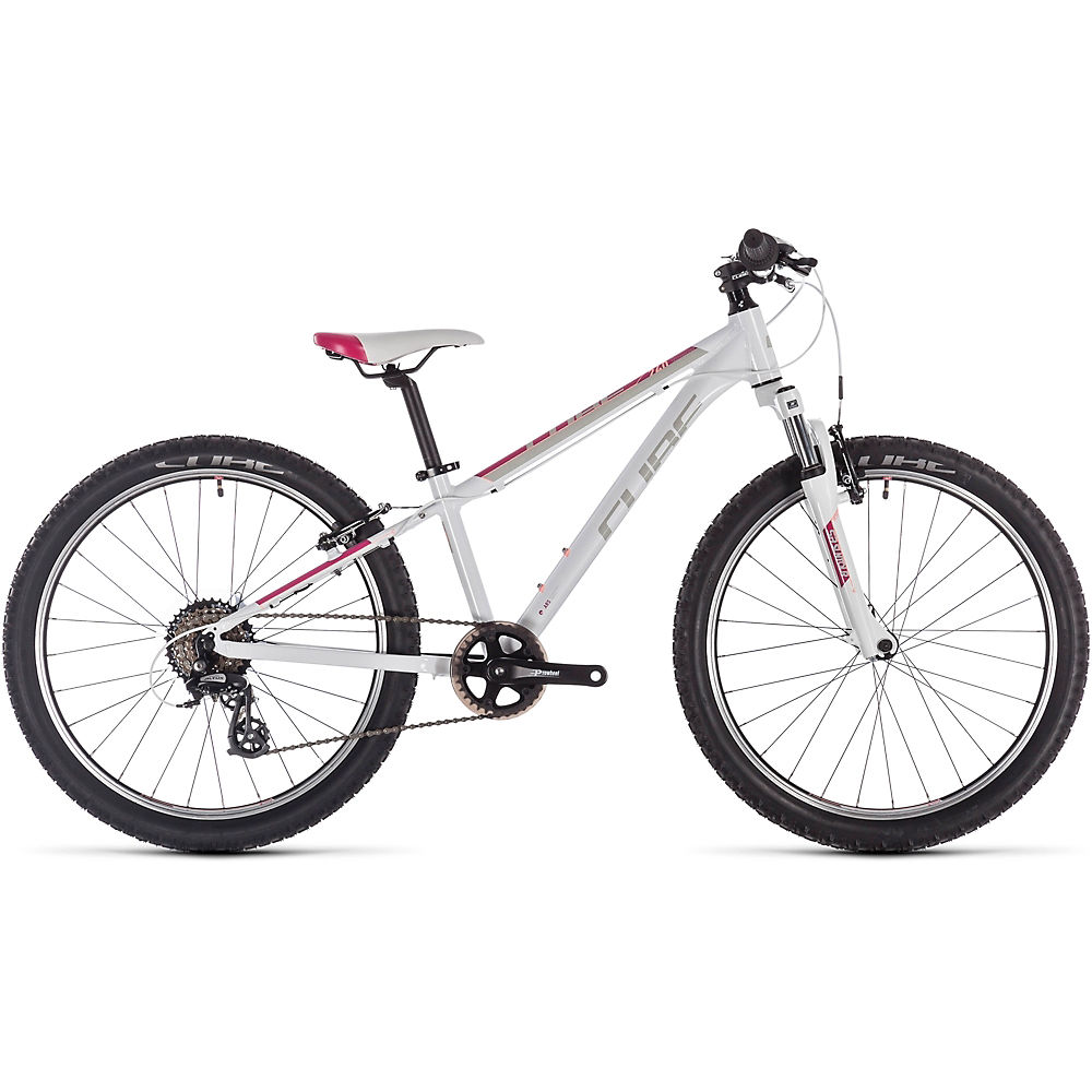 Cube Access 240 Kids Bike 2020 - White - Red - Coral - 24