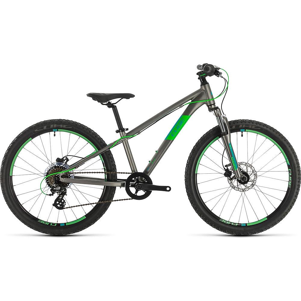 Cube Acid 240 Disc Kids Bike 2021 - Grey - Neongreen, Grey - Neongreen