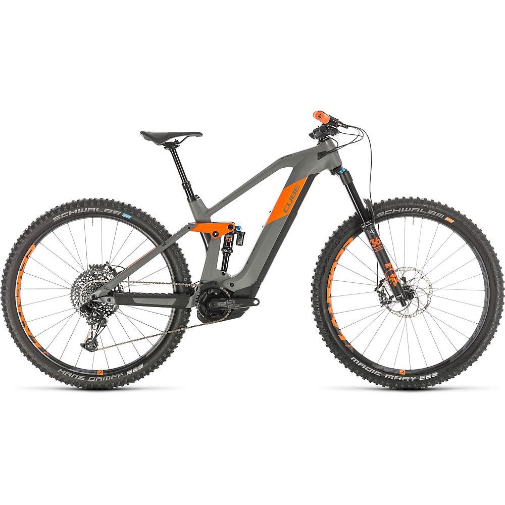 "Cube Stereo Hybrid 140 HPC TM 625 29 E-Bike 2020 - Grey - Orange - 46cm (18""), Grey - Orange"