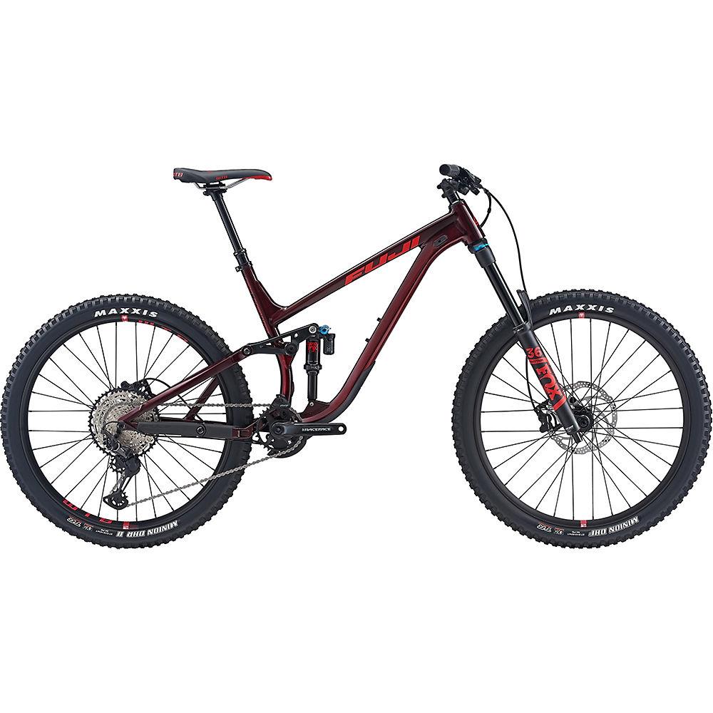 "Image of Fuji Auric LT 27.5 1.3 Full Suspension Bike 2020 - Dark Maroon - 43cm (17""), Dark Maroon"
