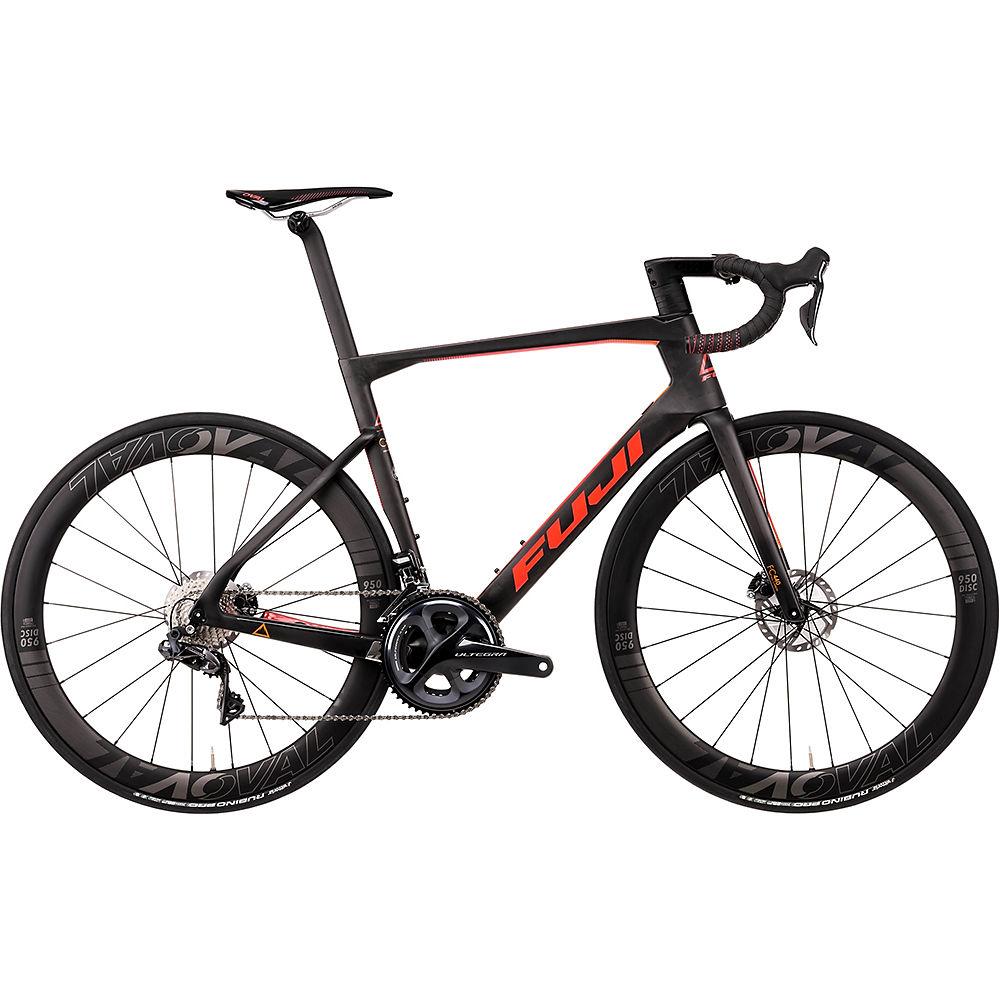 "Fuji Transonic 2.1 Disc Road Bike 2020 - Satin Carbon - Red Orange - 52cm (20.5""), Satin Carbon - Red Orange"
