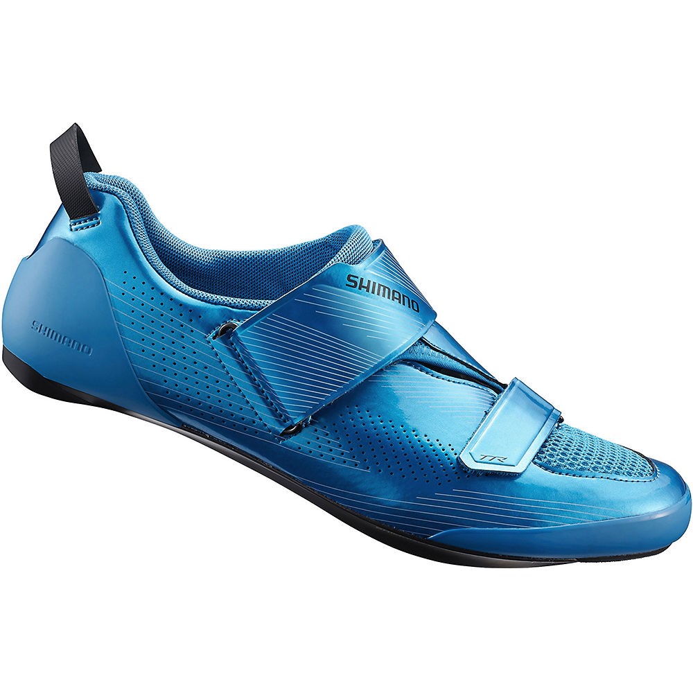 Shimano TR9 SPD-SL Triathlon Shoes 2020 - Blue - EU 42, Blue