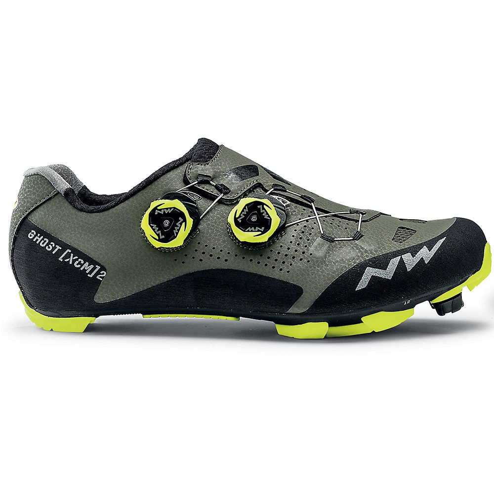 Northwave Ghost Xcm 2 Mtb Shoes 2020 - Forest - Yellow - Eu 42  Forest - Yellow