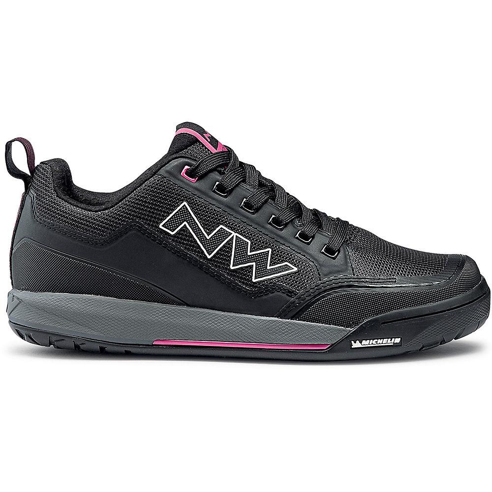 Northwave Woman's Clan MTB Shoes 2020 - Black-Fuschia - EU 41, Black-Fuschia