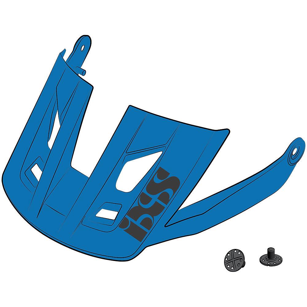 Ixs Trigger Am Helmet Visor + Pins - Fluo Blue - S/m  Fluo Blue