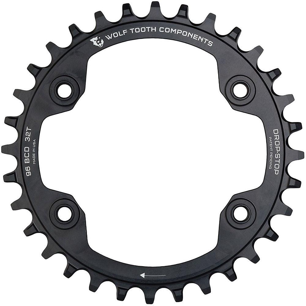 Image of Wolf Tooth M9000 Chainring - Noir - 4-Bolt, Noir
