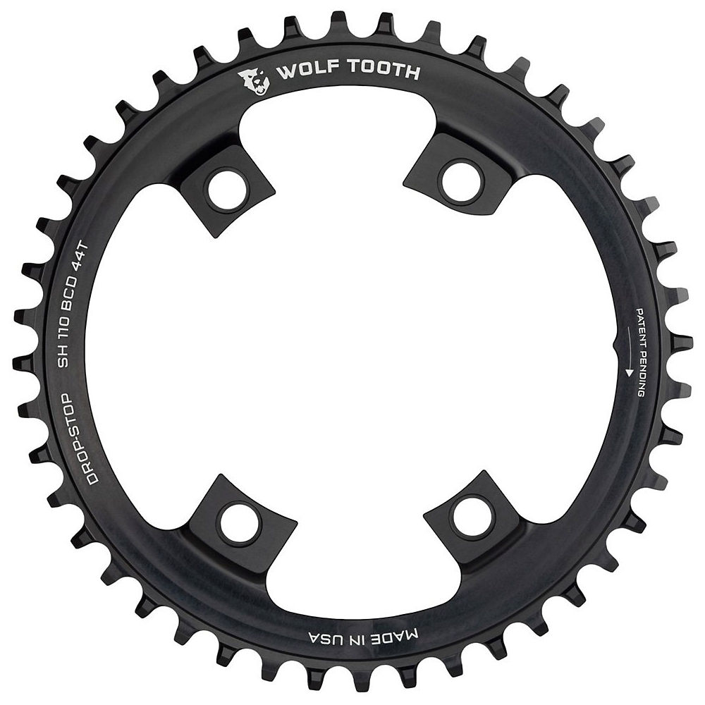 Image of Wolf Tooth 110 BCD Chainring - Noir - 4-Bolt, Noir