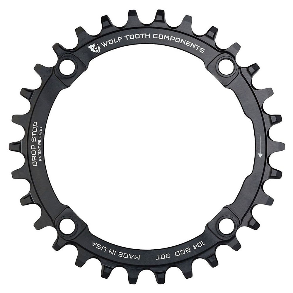 Image of Wolf Tooth 104 BCD Chainring - Noir - 4-Bolt, Noir