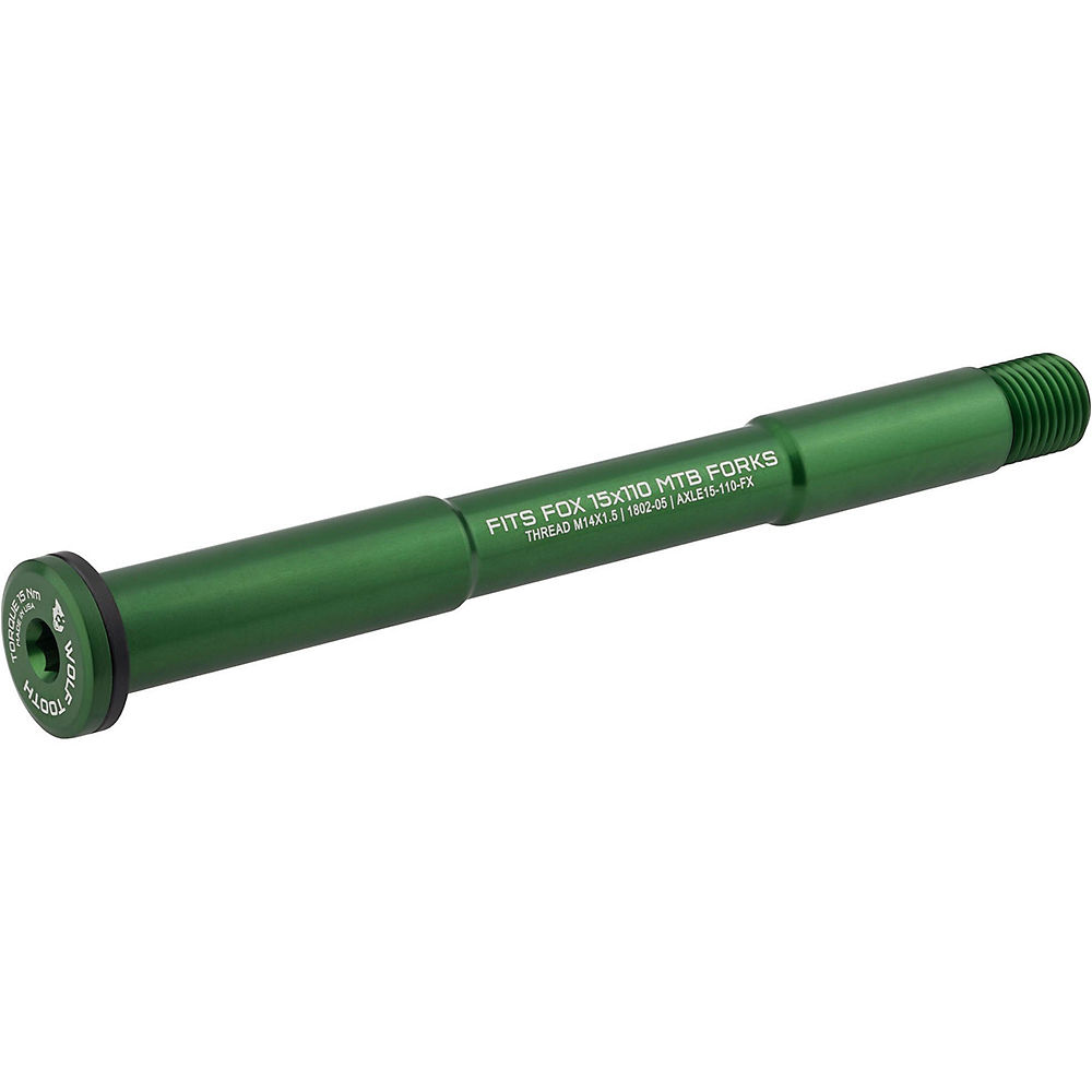 Image of Wolf Tooth Axle for Fox Forks - Vert - 110mm, Vert