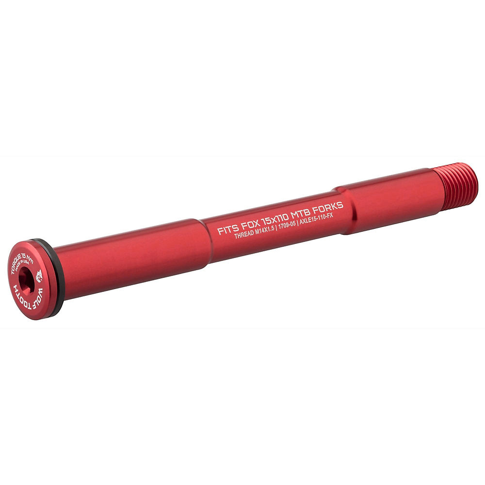 Image of Wolf Tooth Axle for Fox Forks - Rouge - 110mm, Rouge