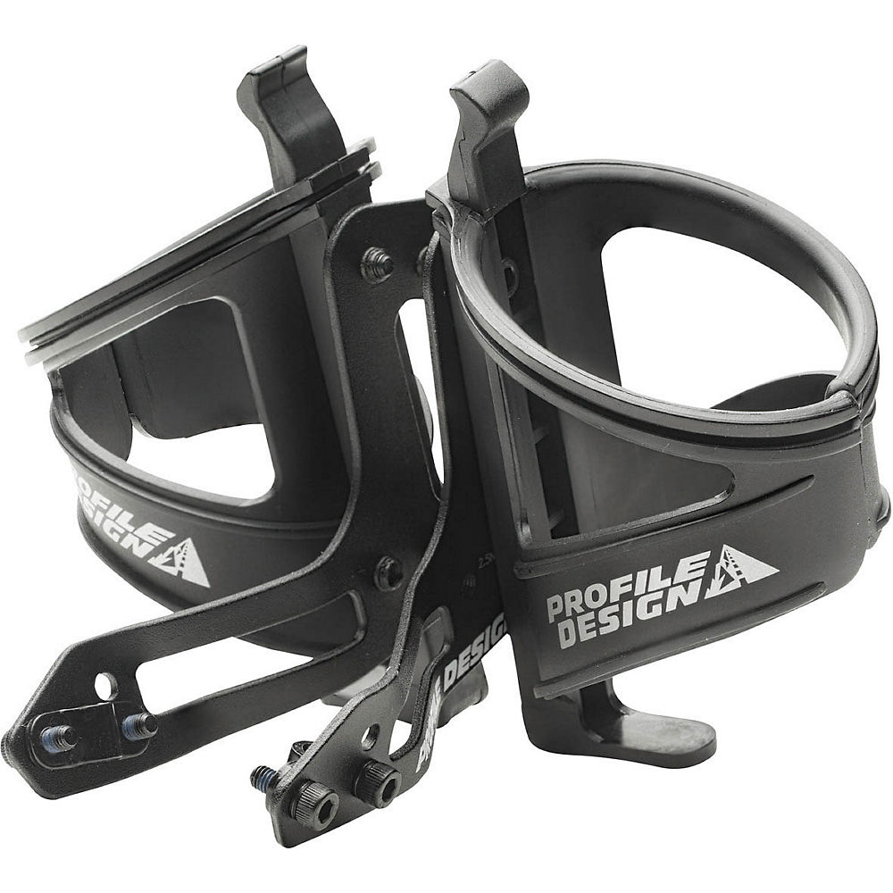Image of Profile Design Aqua Rear Mount Bottle Cage - nero, nero