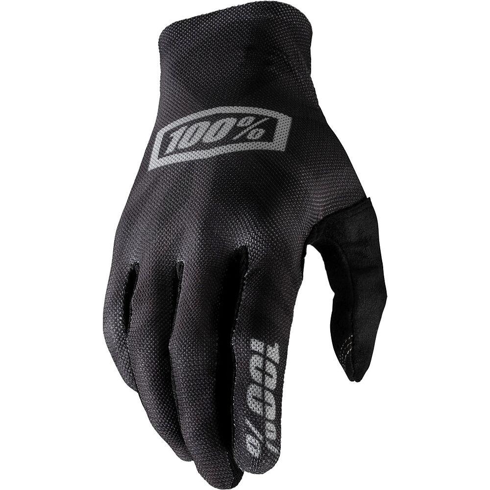 100% Celium Glove - Black-Silver - XL, Black-Silver