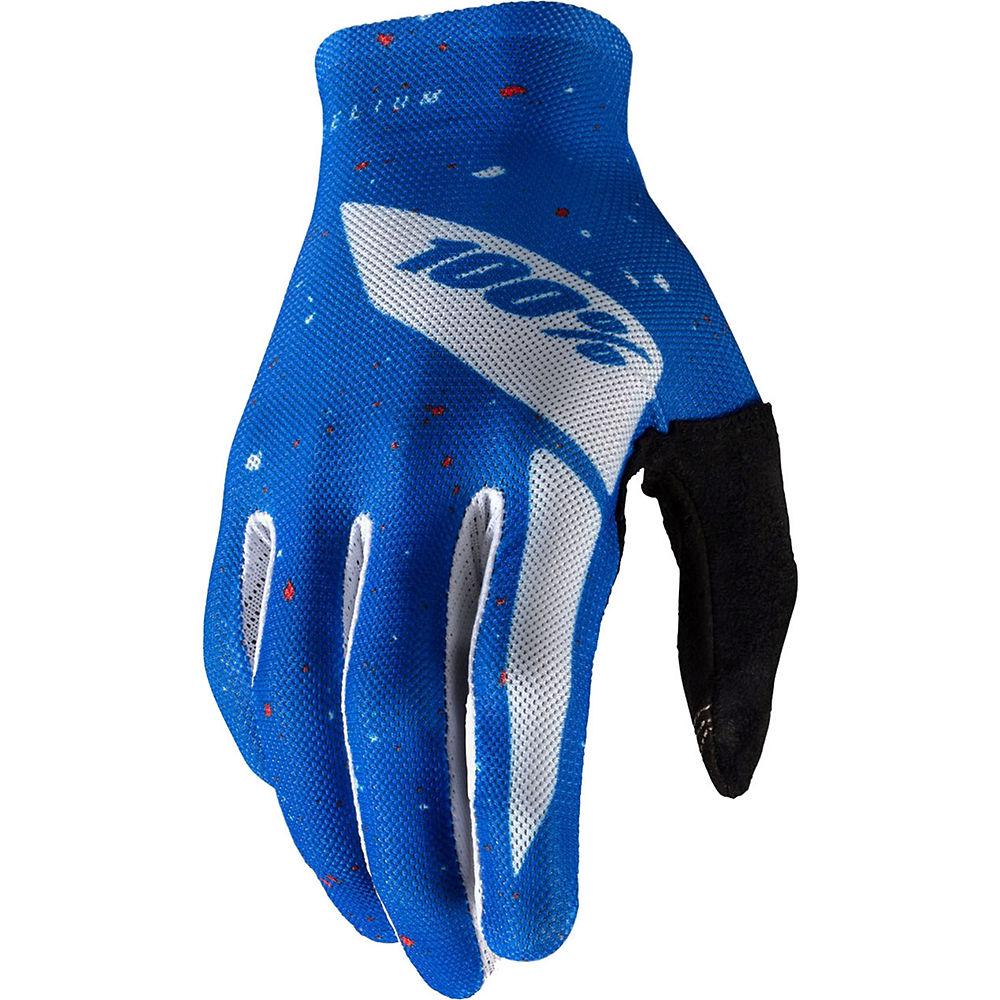 100% Celium Glove - Blue-White, Blue-White