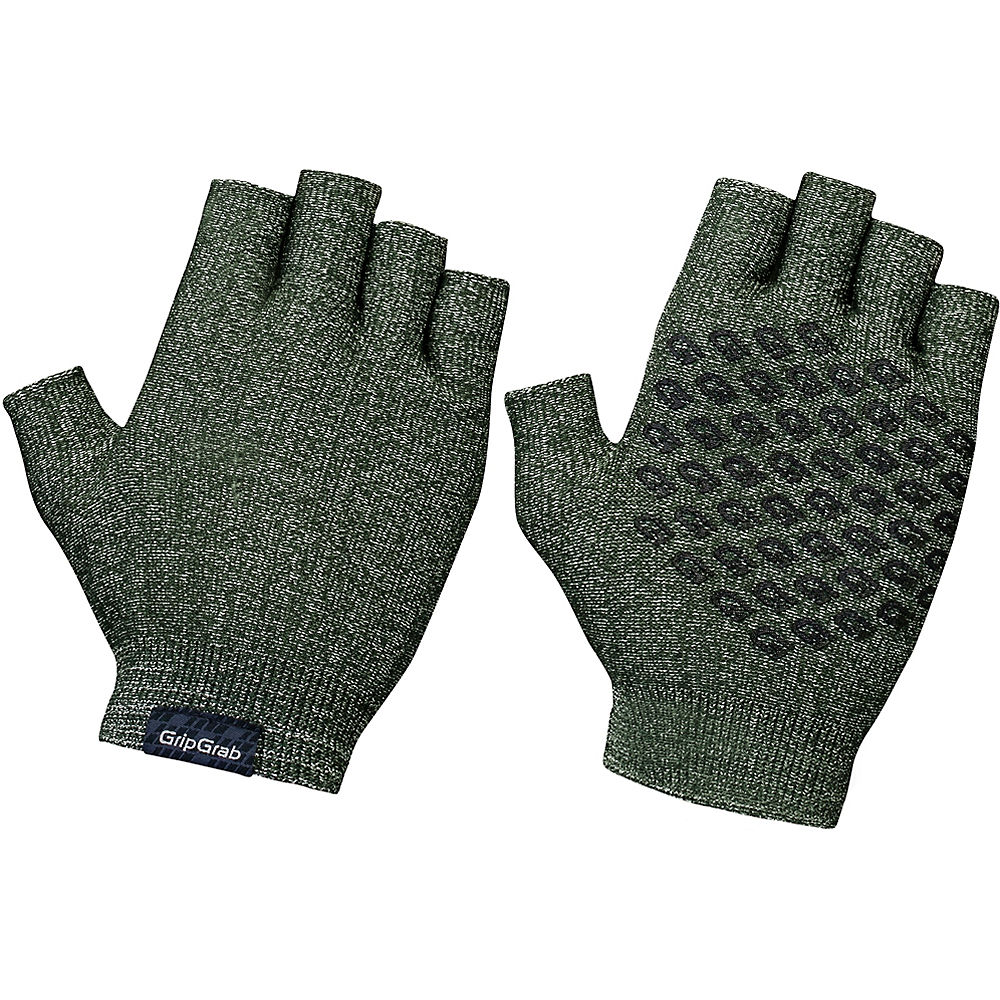 GripGrab Freedom Knitted Cycling Gloves 2020 - Olive - M/L, Olive