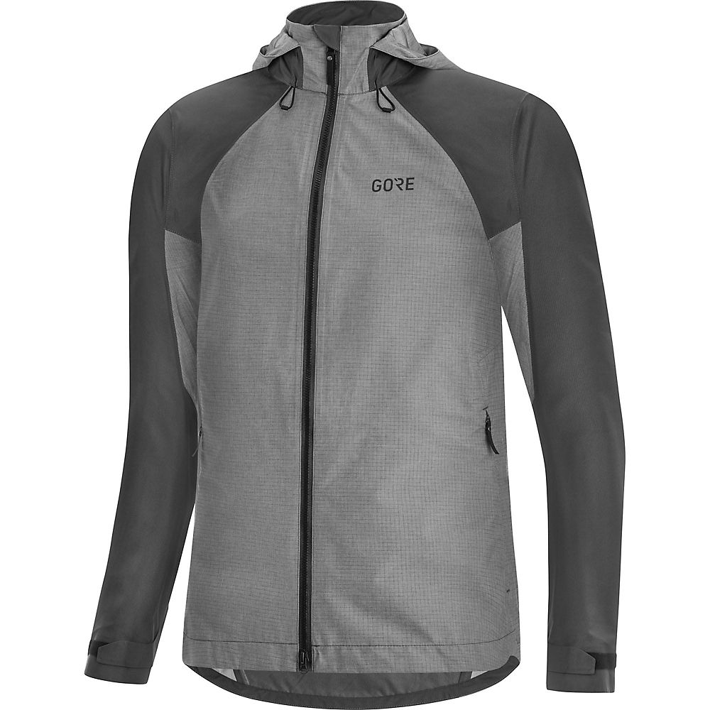 Gore Wear Women's C5 GTX Trail Hooded Jacket  - Terra Grey - XS, Terra Grey