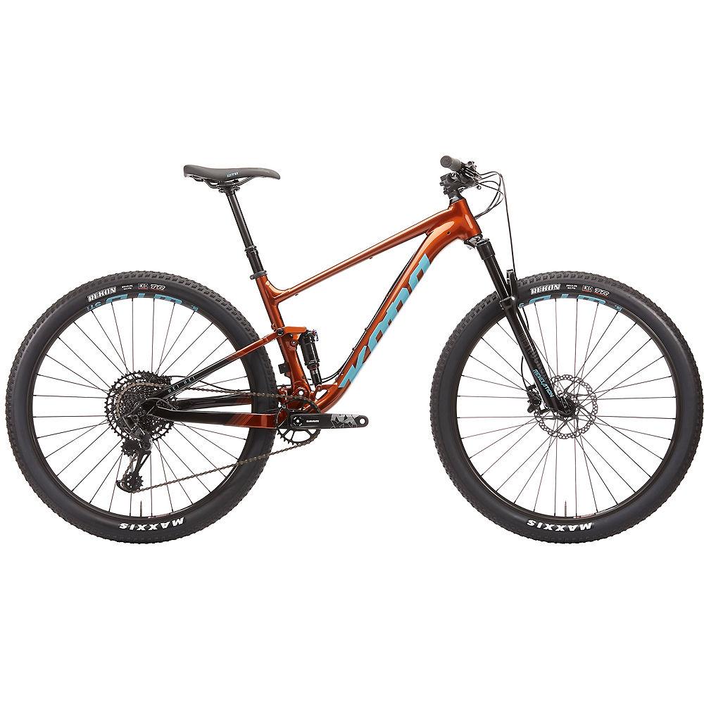 Image of Kona Hei Hei Full Suspension Bike 2020 - Rust Orange - M, Rust Orange