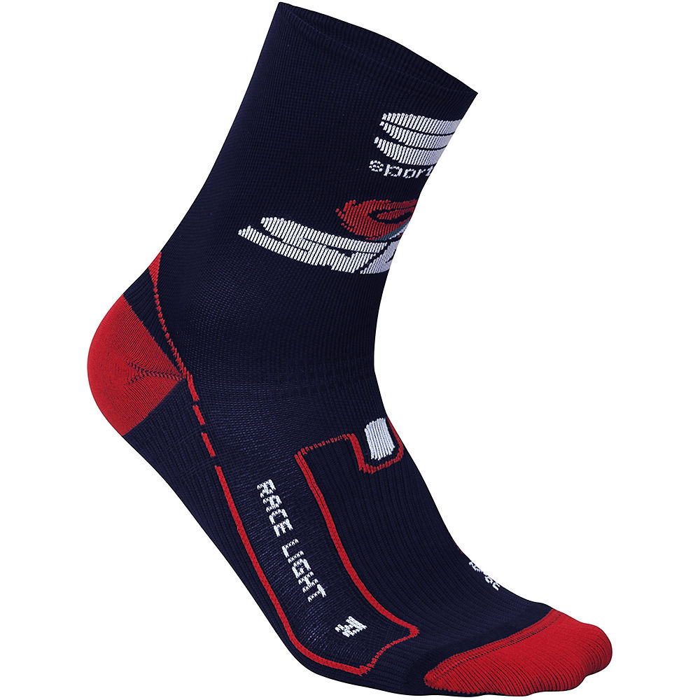Sportful Bahrain-Merida 2018 Race Light Socks  - Blue - L/XL/XXL, Blue