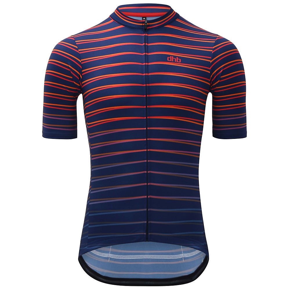 dhb Classic Short Sleeve Jersey - Refraction - Navy-Red, Navy-Red
