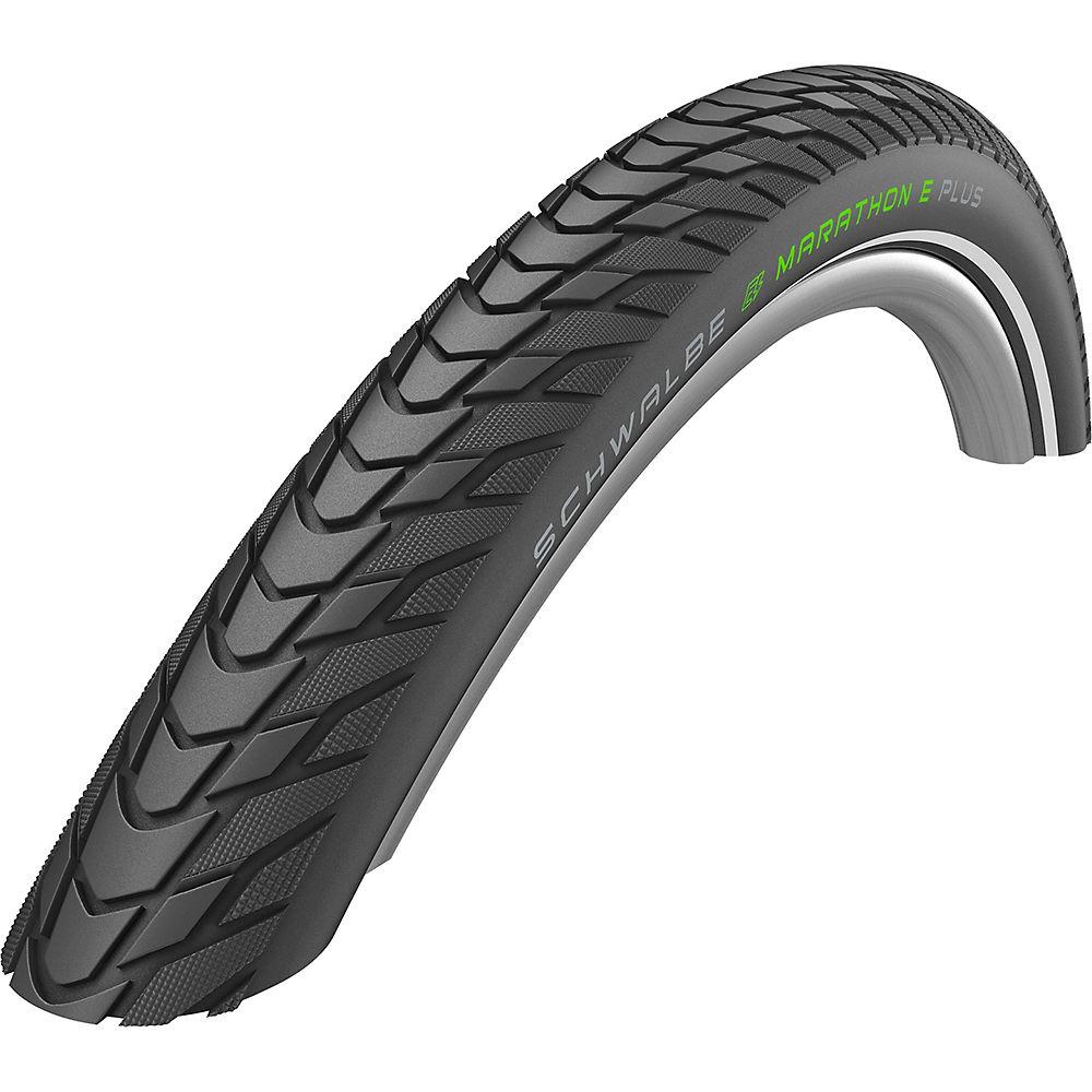 Schwalbe Marathon E-Plus Performance Bike Tyre - Black - Reflex - Wire Bead, Black - Reflex