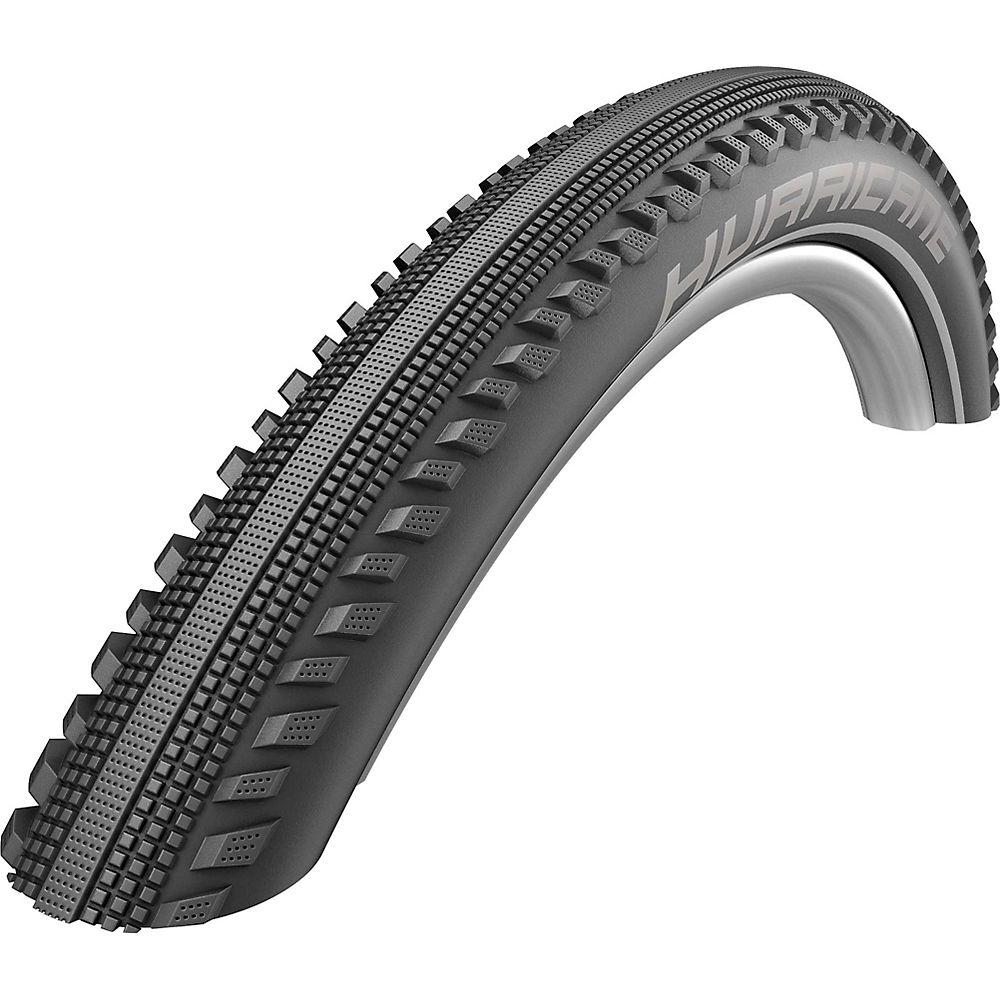 Schwalbe Hurricane Performance DD Tyre - Black - Reflective - Wire Bead, Black - Reflective