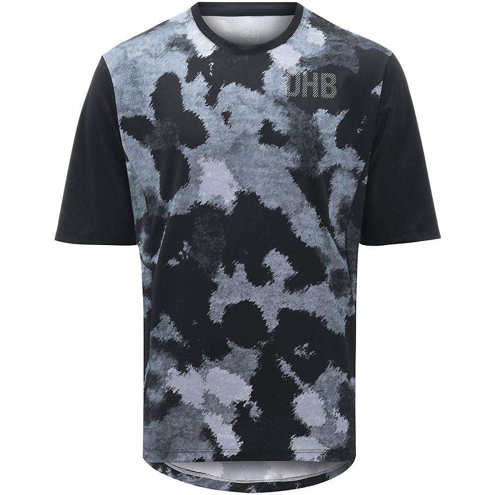 dhb MTB Trail Short Sleeve Jersey - Camo  - Black-Grey Camo - XL, Black-Grey Camo
