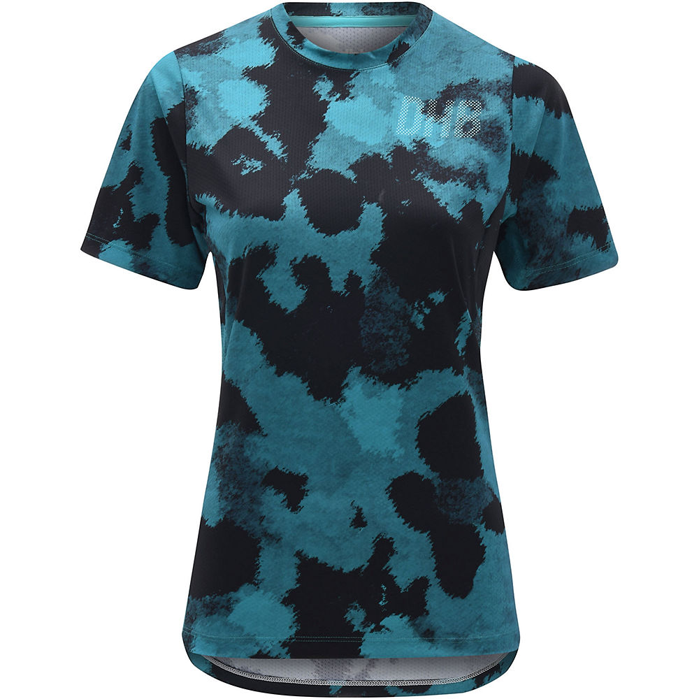 dhb MTB Womens Trail Jersey - Camo - Turquoise Camo - UK 12, Turquoise Camo