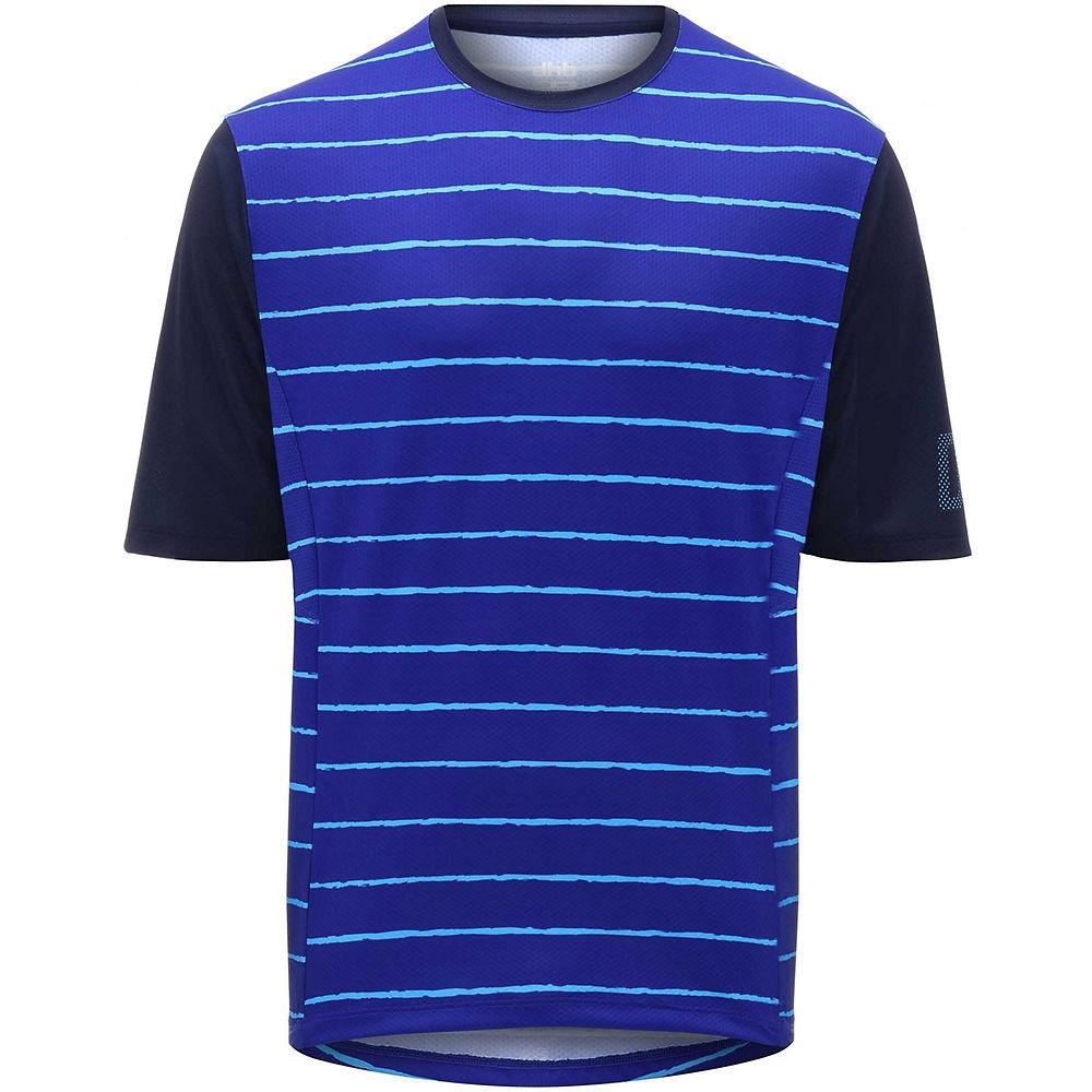 dhb MTB Trail Short Sleeve Jersey - Stripe - Blue Stripe, Blue Stripe